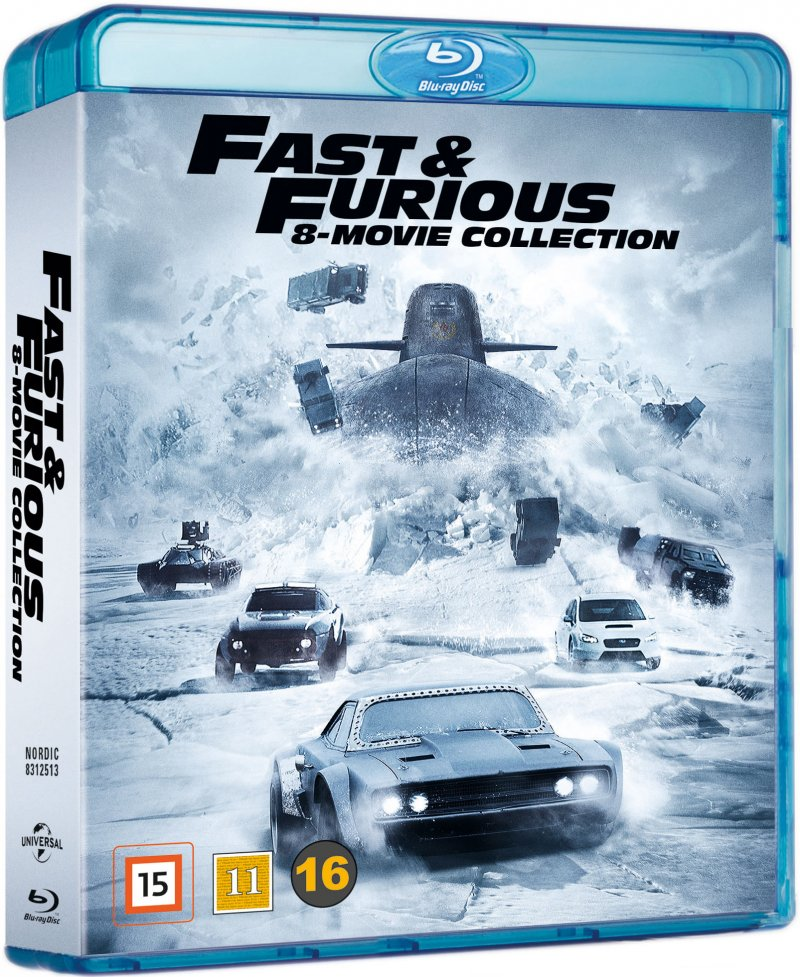 fast and furious 1 8 box blu ray film k b billigt her. Black Bedroom Furniture Sets. Home Design Ideas