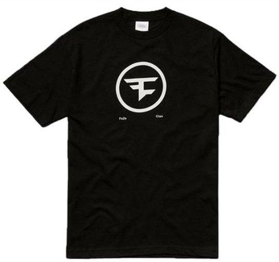 Image of   Faze Clan T-shirt Med Cirkel Logo I Sort - Xl