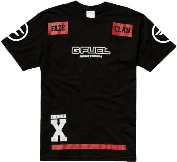 Faze Clan Player Jersey Shortsleeve / Esport Trøje I Sort - Xxl