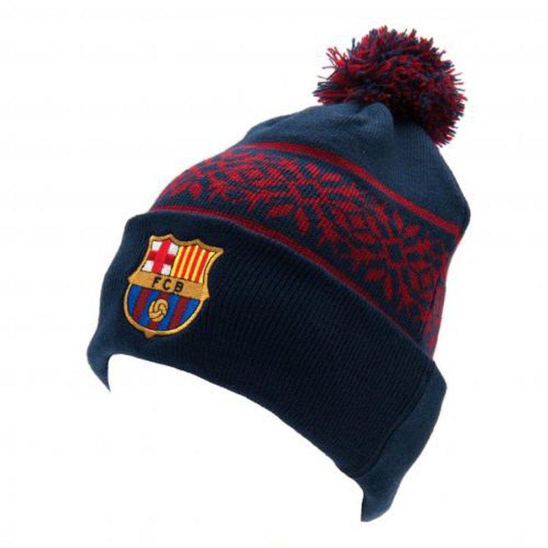 Image of   Fc Barcelona Merchandise - Strikket Hue / Strikhue