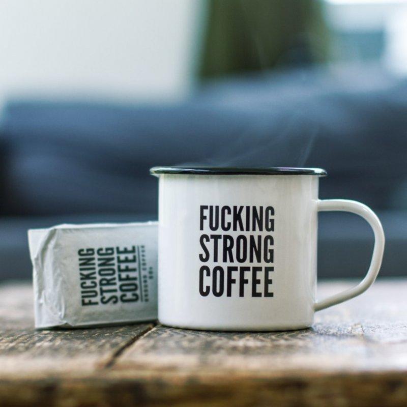 Image of   F*cking Strong Coffee - Kaffe Med Krus Sæt