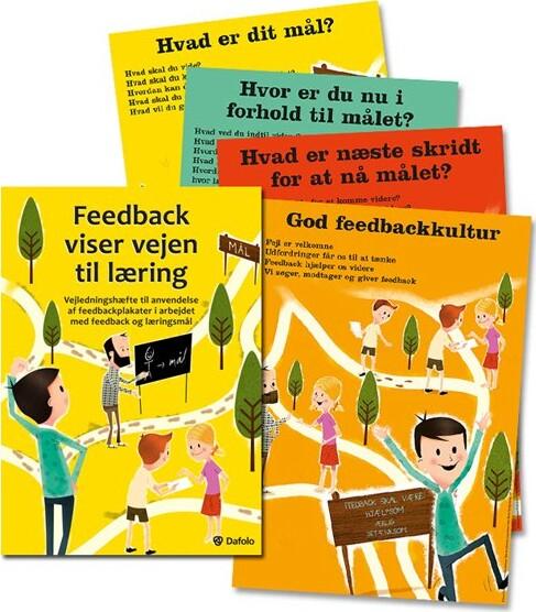 Image of   Feedback Viser Vejen Til Læring - Pjece Samt 4 Stk. Plakater - Kirsten Hyldahl - Bog