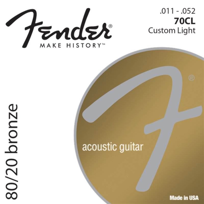Image of   Strenge Til Akustisk Guitar: Fender 80/20 Bronze 70cl (11-52)