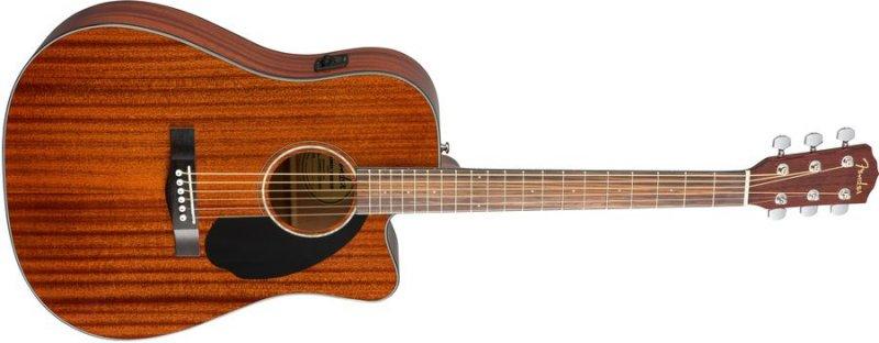 Fender Cd-60sce Akustisk Guitar - All Mahogany