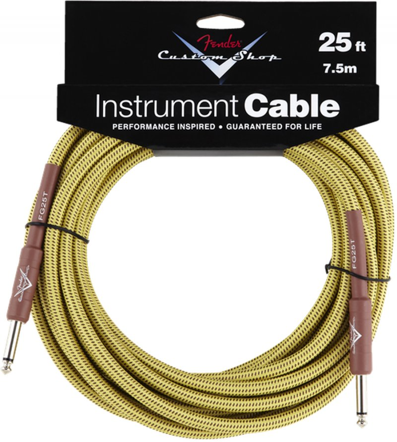 Image of   Fender Custom Shop Cable / Instrumentkabel - Gul - 7,5 M