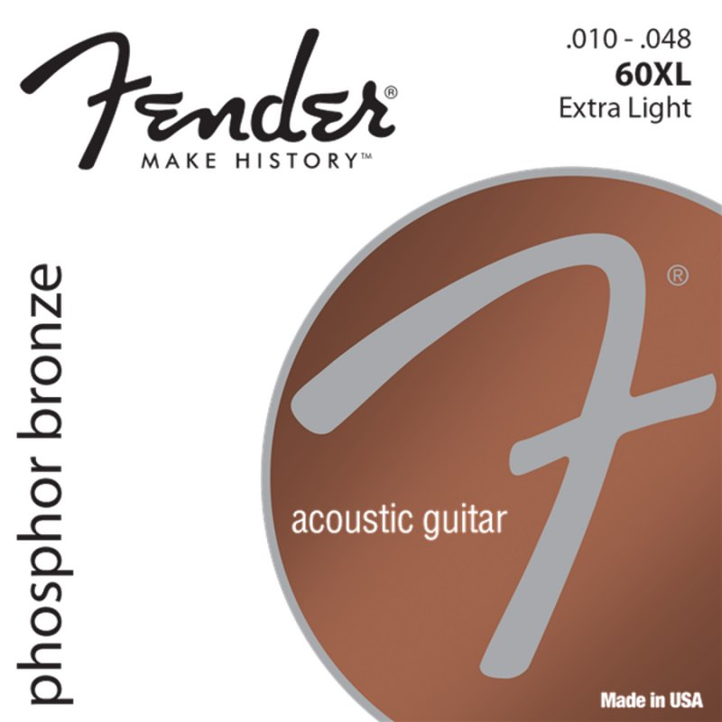 Image of   Strenge Til Akustisk Guitar: Fender Phosphor Bronze 60xl (10-48)