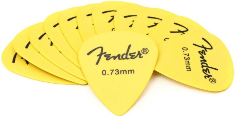 Image of   Fender Rock-on Touring Picks / Plektre Til Guitar 0,73 Mm - 12 Stk.