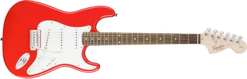 Fender Squier Affinity Stratocaster Elektrisk Guitar - Rød