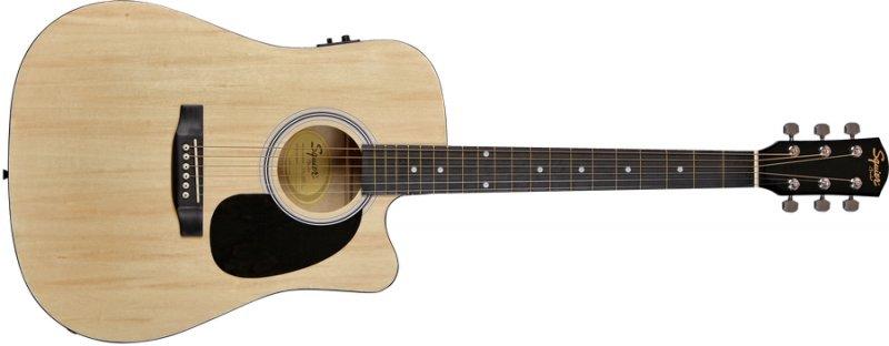 Fender Squier Sa-105ce Akustisk Guitar - Natural