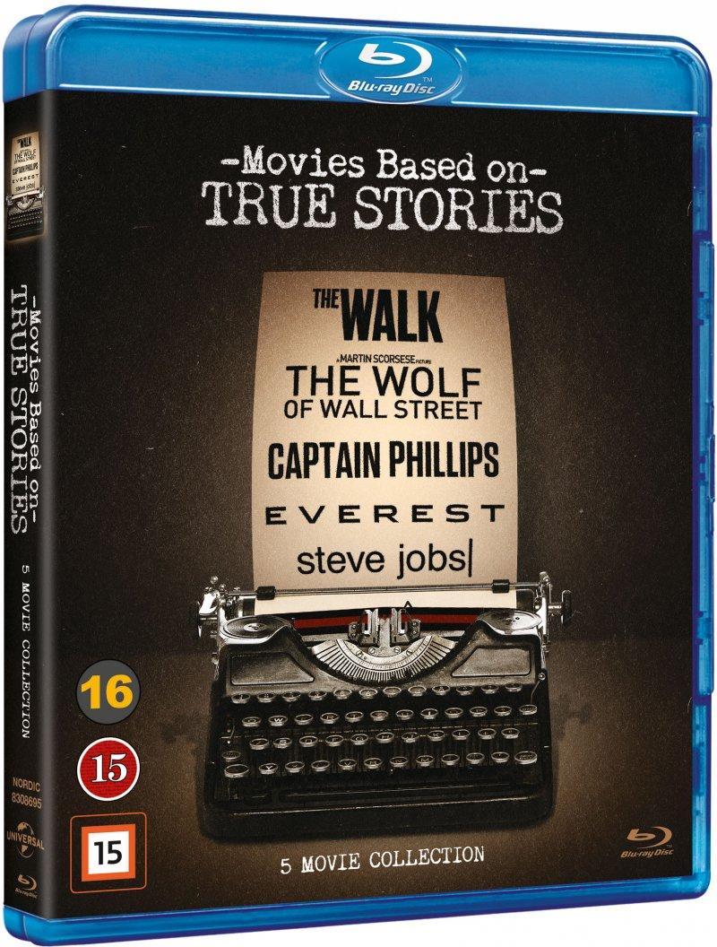 Steve Jobs // The Walk // Everest // The Wolf Of Wall Street // Captain Phillips - Blu-Ray