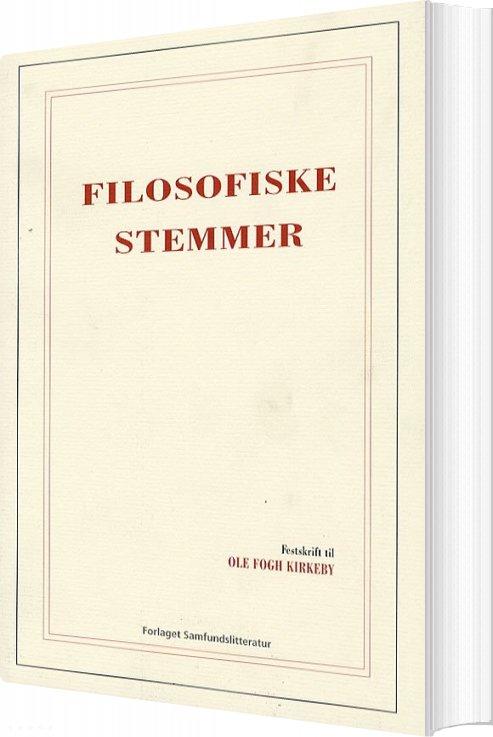 Image of   Filosofiske Stemmer - Martin Fuglsang - Bog