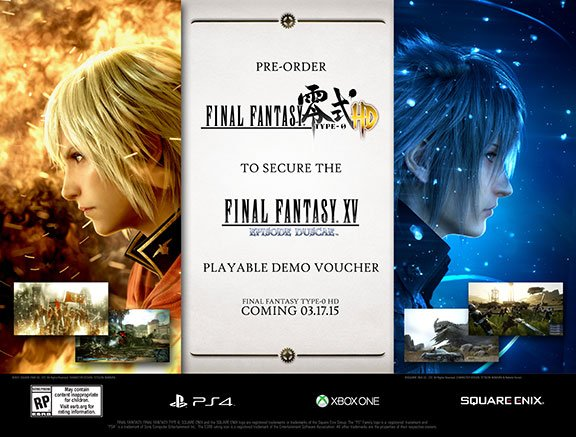 Image of   Final Fantasy Type - 0 Hd (inc. Final Fantasy Xv Playable Demo) - Xbox One