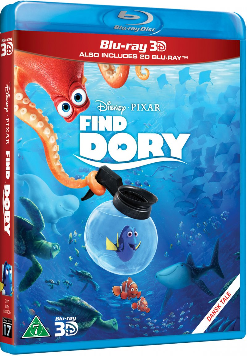 Image of   Find Dory / Finding Dory - Disney Pixar - 3D Blu-Ray