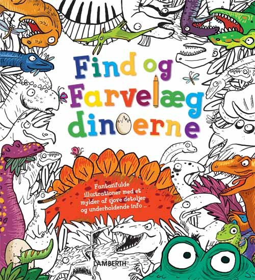 Image of   Find Og Farvelæg Dinoerne - Alexandra Koken - Bog