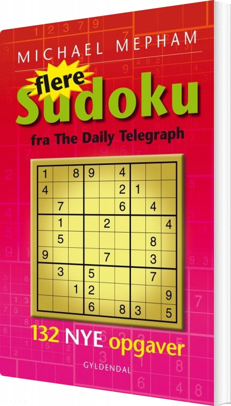 Image of   Flere Sudoku Fra The Daily Telegraph - Michael Mepham - Bog