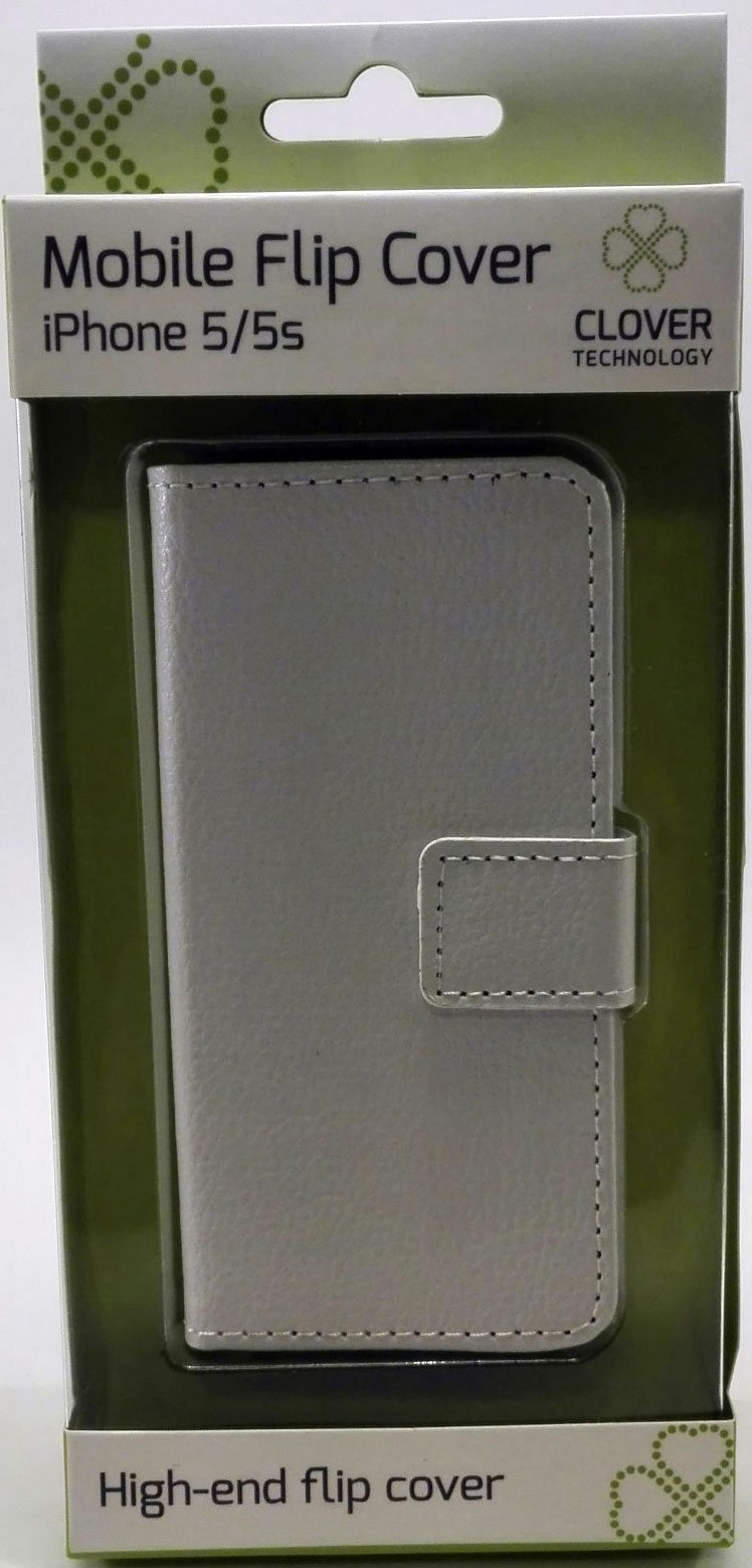 Image of   Iphone 5/5s Flip Cover - Hvid - Clover