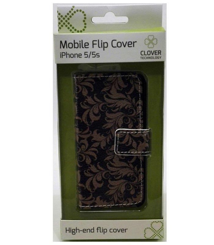 Image of   Iphone 5/5s - Flip Cover - Mønster - Clover