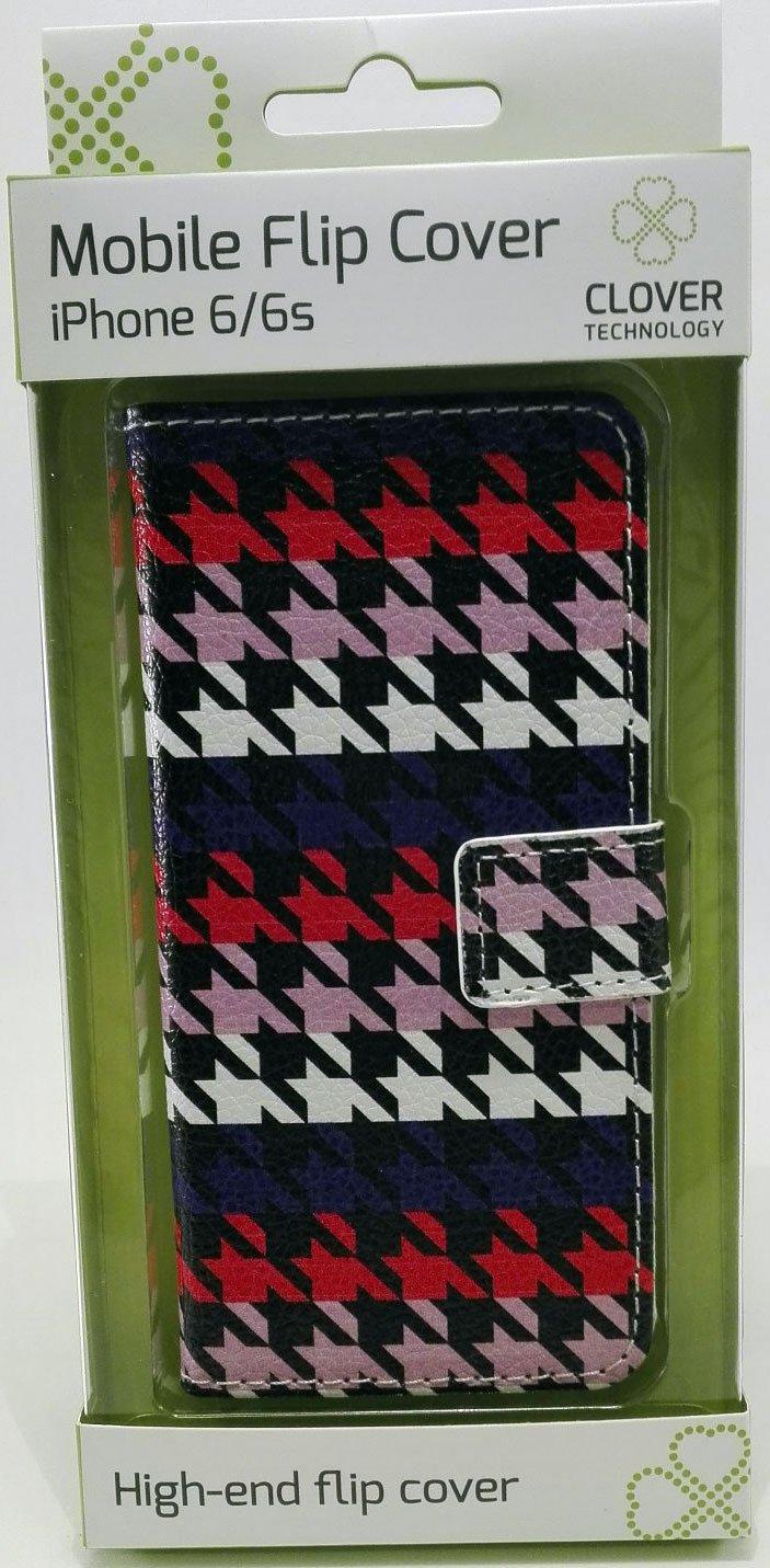 Image of   Iphone 6/6s Flip Cover - Mønster - Clover