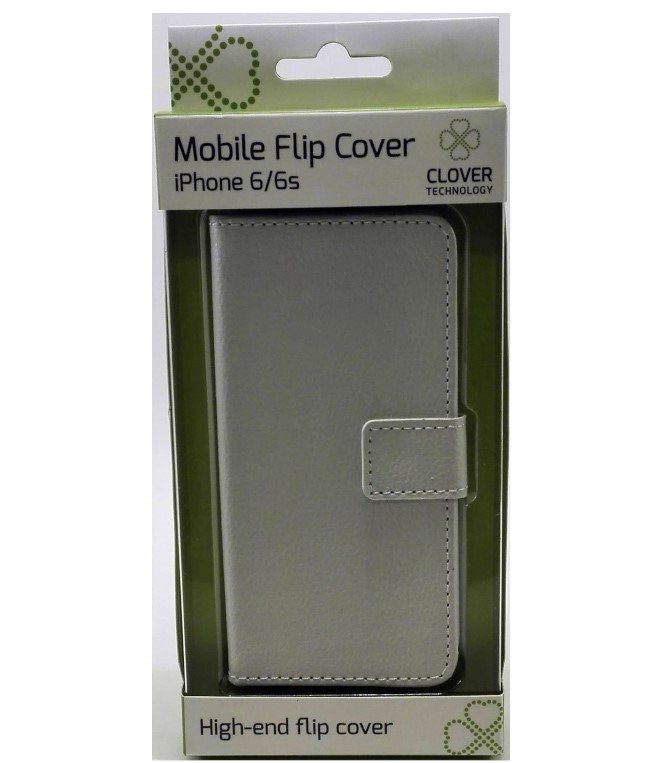 Image of   Iphone 6/6s - Flip Cover - Hvid - Clover