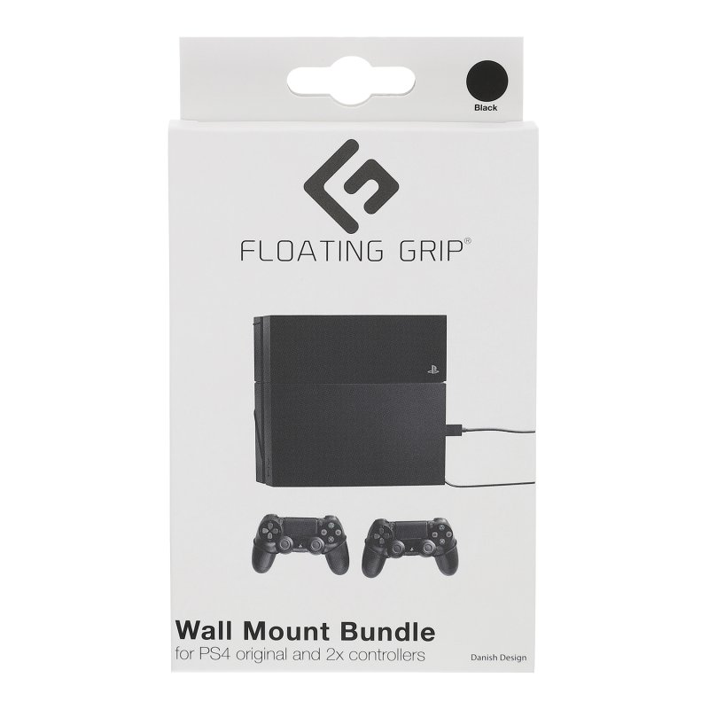 Image of   Floating Grip - Vægbeslag Til Playstation 4 Original Og Controllers - Sort