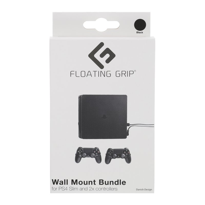 Image of   Floating Grip - Vægbeslag Til Playstation 4 Slim Og Controllers - Sort