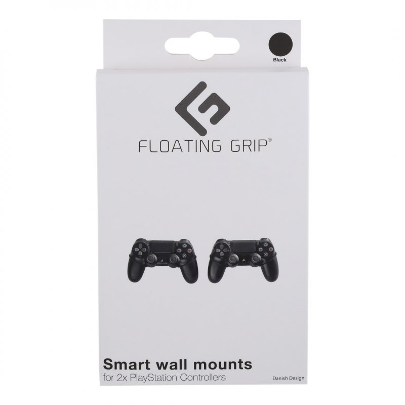 Image of   Floating Grip - Vægbeslag Til 2x Ps3 Og Ps4 Controllere - Sort