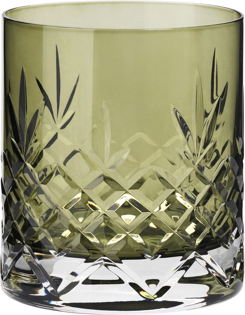 Image of   Frederik Bagger Crispy Emerald Lowball Krystal Glas - 2 Pak