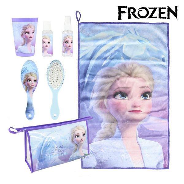 Frost Toilettaske Sæt I 6 Dele - Blå