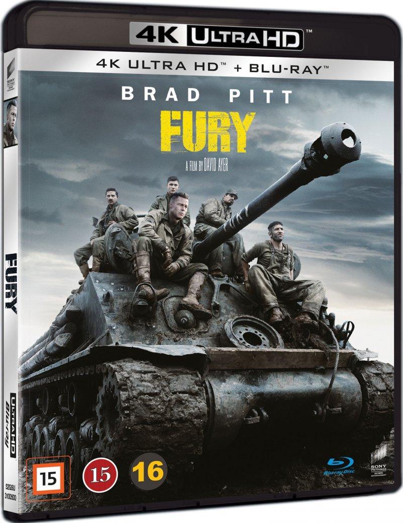 Image of   Fury - Brad Pitt - 2014 - 4K Blu-Ray