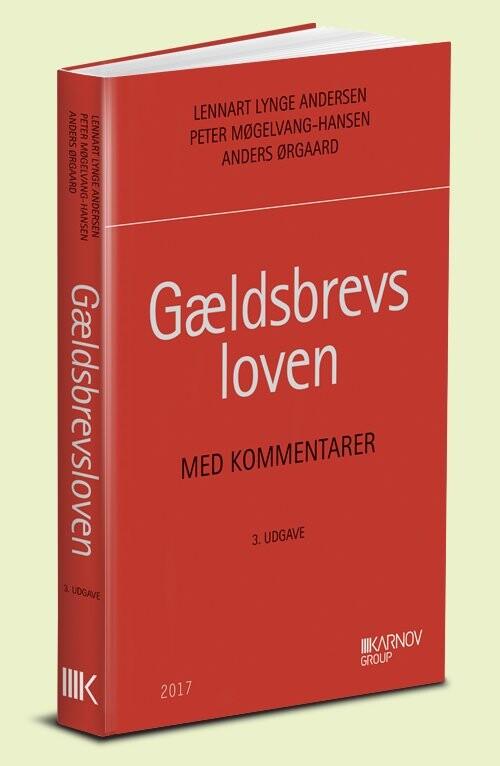 Image of   Gældsbrevsloven Med Kommentarer - Anders ørgaard - Bog