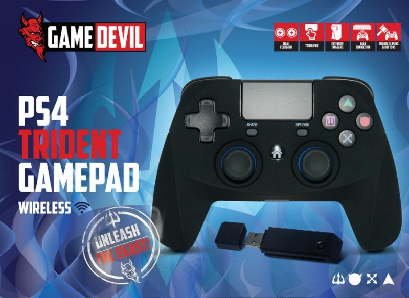 Image of   Game Devil Ps4 Controller - Trident Game Pad Rf Wireless
