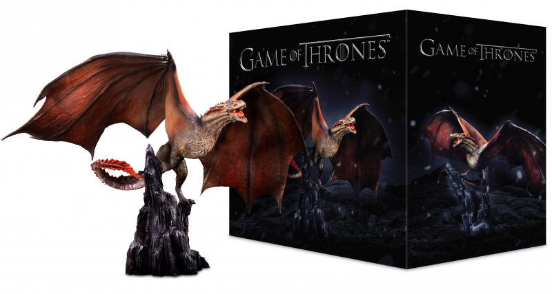 Game Of Thrones - Sæson 1-7 - Limited Edition Drogon - Hbo - Blu-Ray - Tv-serie