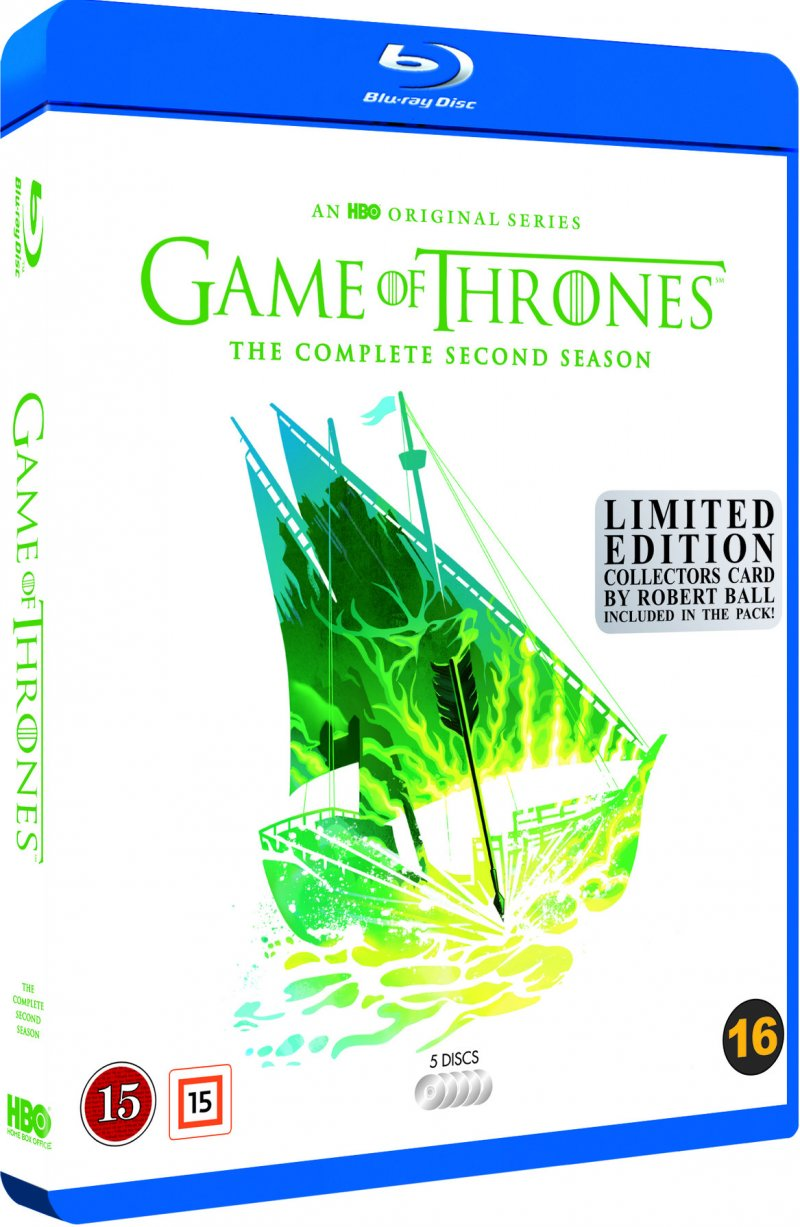 Image of   Game Of Thrones - Sæson 2 - Hbo - Robert Ball Limited Edition - Blu-Ray - Tv-serie