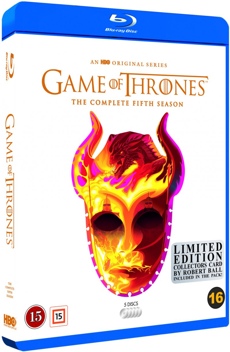 Image of   Game Of Thrones - Sæson 5 - Hbo - Robert Ball Limited Edition - Blu-Ray - Tv-serie