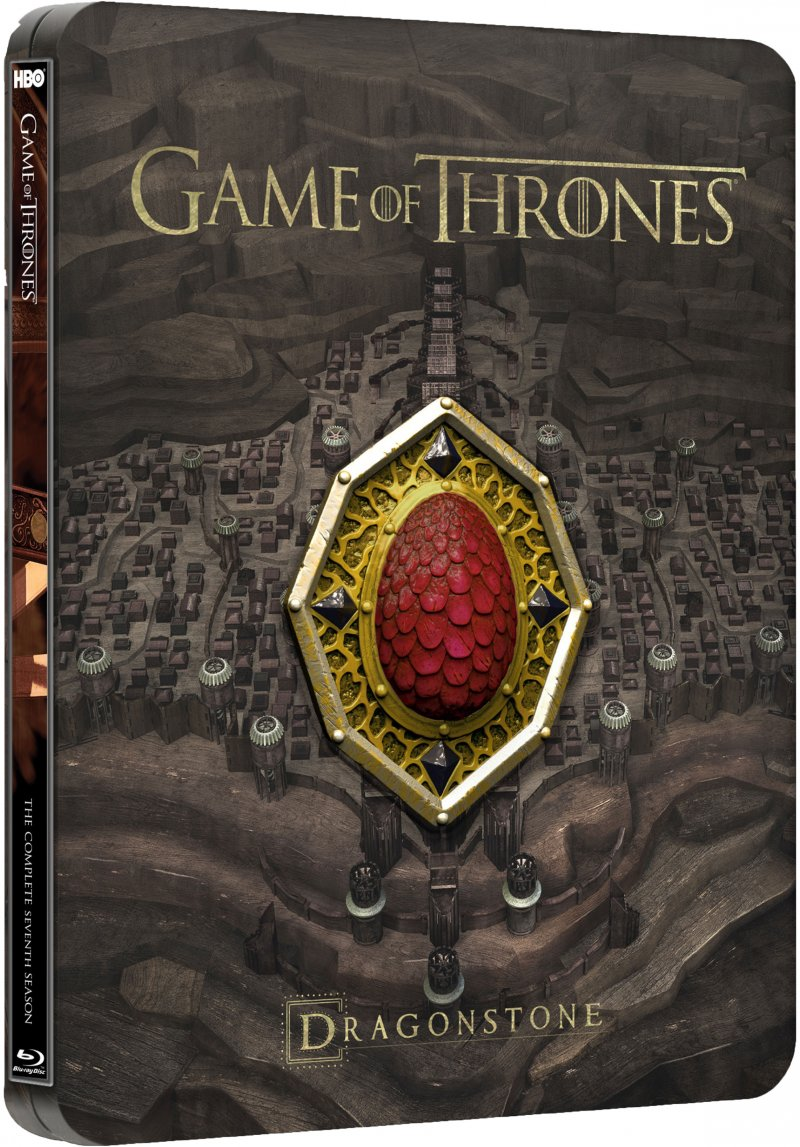 Game Of Thrones - Sæson 7 - Steelbook Collectible Sigil Magnet - Hbo - Blu-Ray - Tv-serie