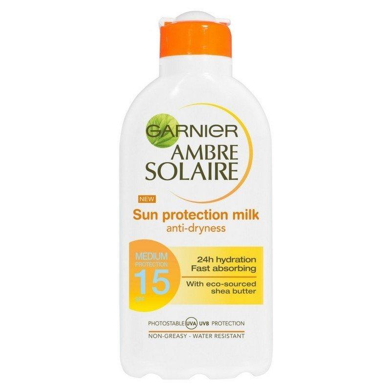 Image of   Garnier Ambre Solaire Sun Protection Milk Spf 15 - 200 Ml.