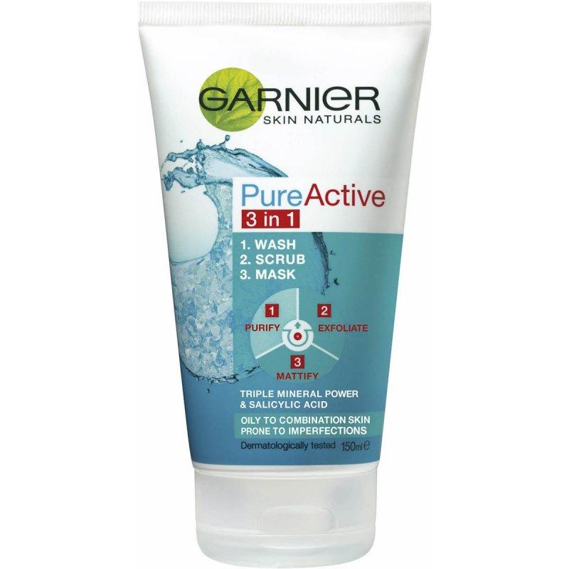 Image of   Garnier Ansigtsvask - Pure Active 3in1 Cleanser Ansigtsvask 150 Ml
