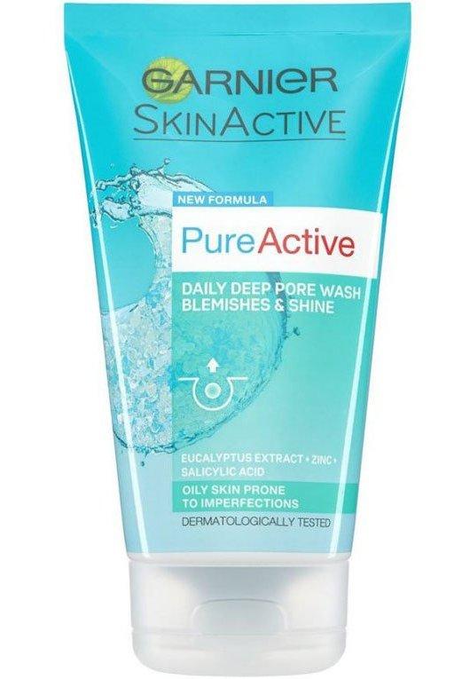 Image of   Garnier Ansigtsvask - Pure Active Deep Pore Wash 150 Ml