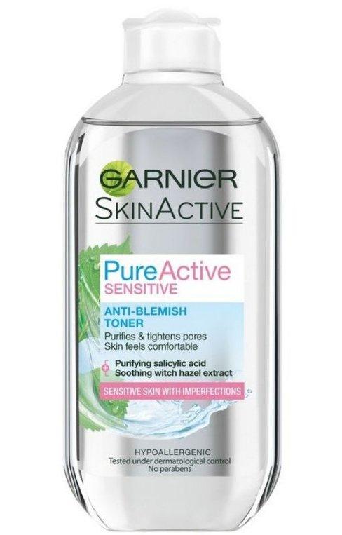 Image of   Garnier Toner - Pure Active Sensitive Anti-blemish Toner 200 Ml