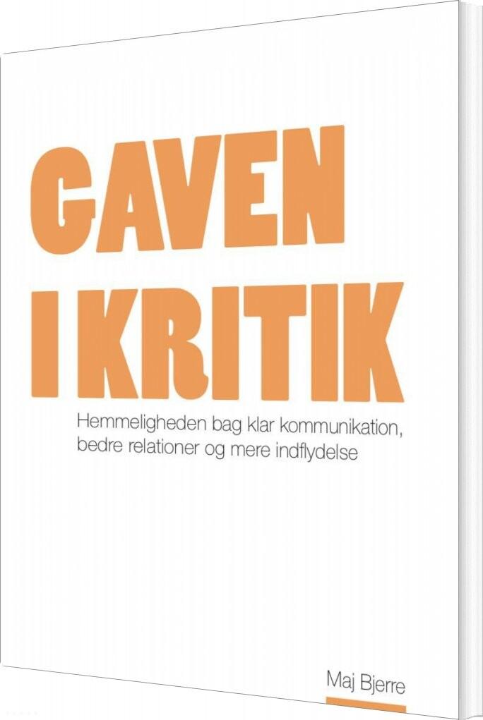 Image of   Gaven I Kritik - Maj Bjerre - Bog