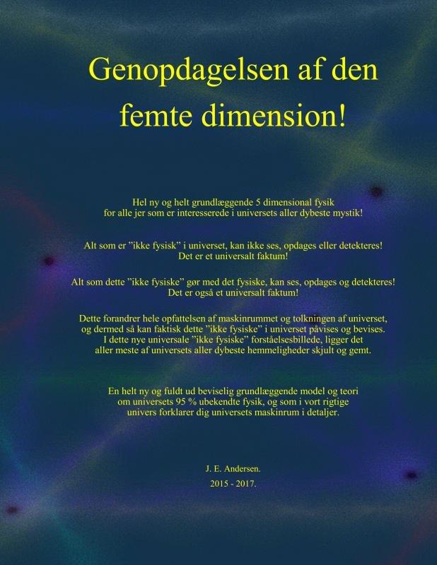 Image of   Genopdagelsen Af Den Femte Dimension! - J. E. Andersen - Bog