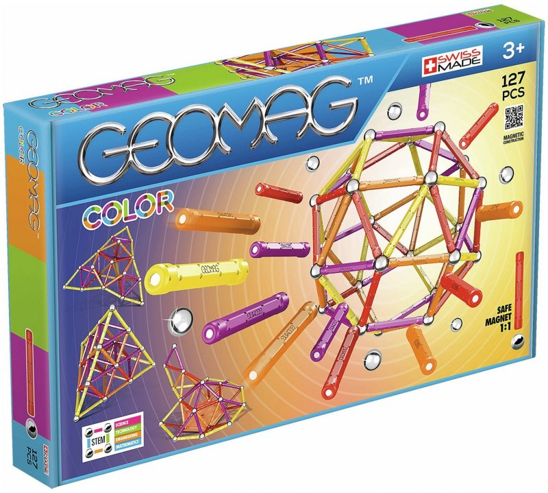 Image of   Geomag Color Magnet Legetøj - 127 Dele
