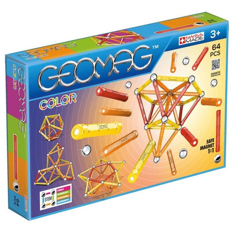 Image of   Geomag Color Magnet Legetøj - 64 Dele