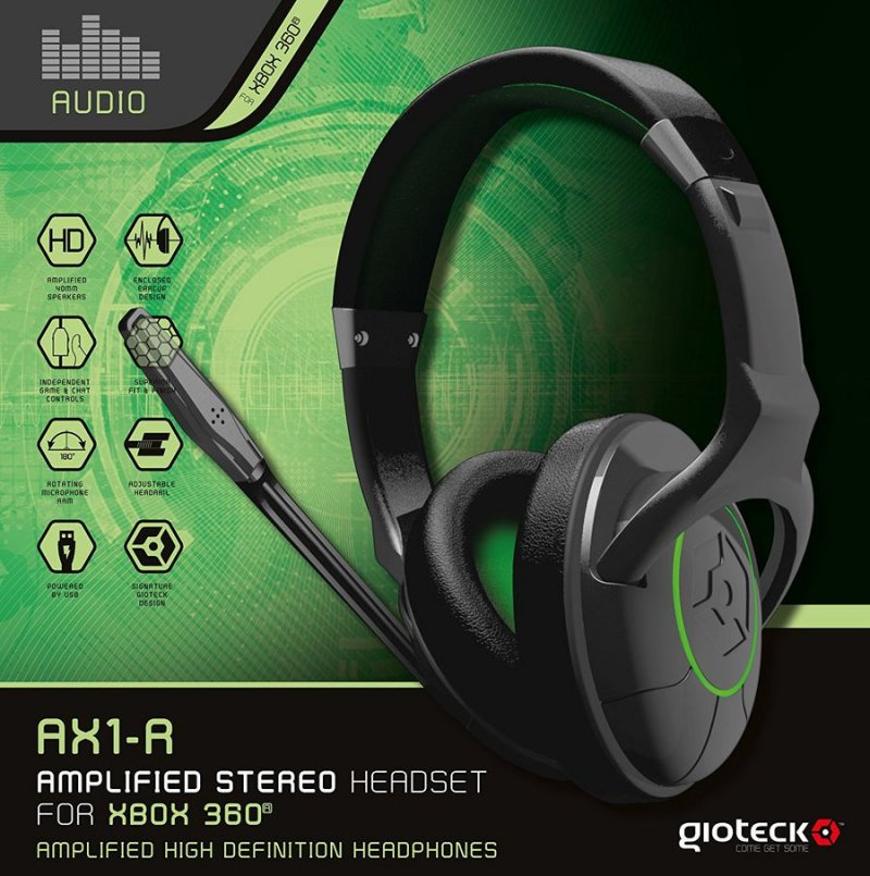 Billede af Gioteck Ax1-r Amplified Gaming Headset Til Xbox 360