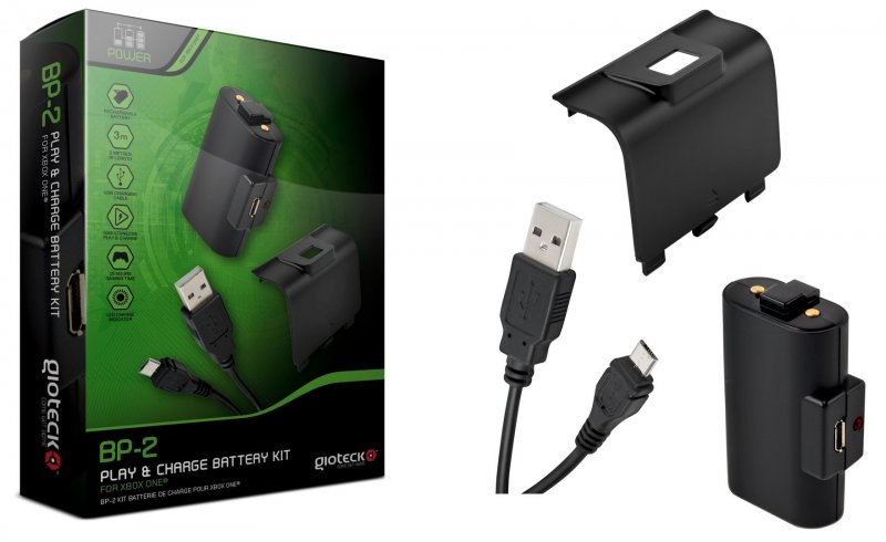 Image of   Gioteck Bp-2 Play And Charge Battery Kit Til Xbox One