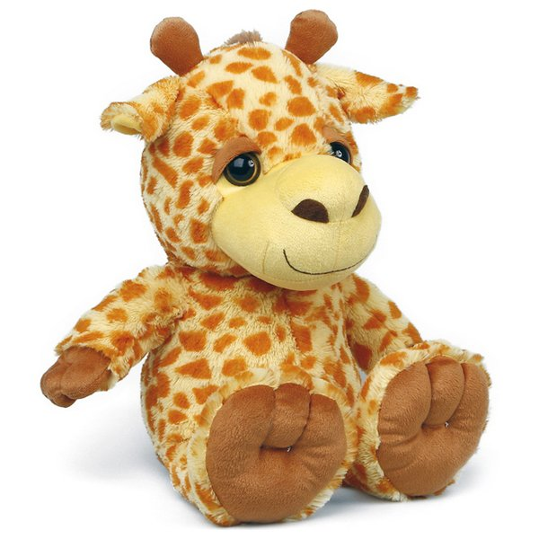 Giraf Bamse Med Store øjne - Brun Orange
