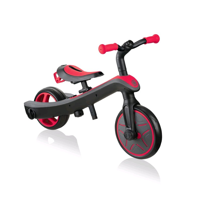 Billede af Globber - 2-i-1 Løbecykel - 2-5 år - Trike Explorer - Rød