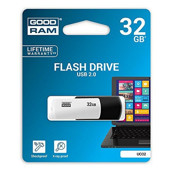 Image of   Goodram - Usb 2.0 Stik - 32gb - Uco2 - Sort Hvid