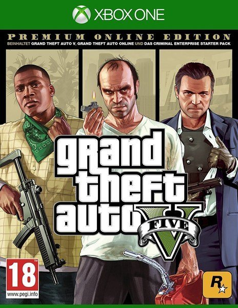 Image of   Grand Theft Auto V (gta 5) Premium Online Edition - Xbox One