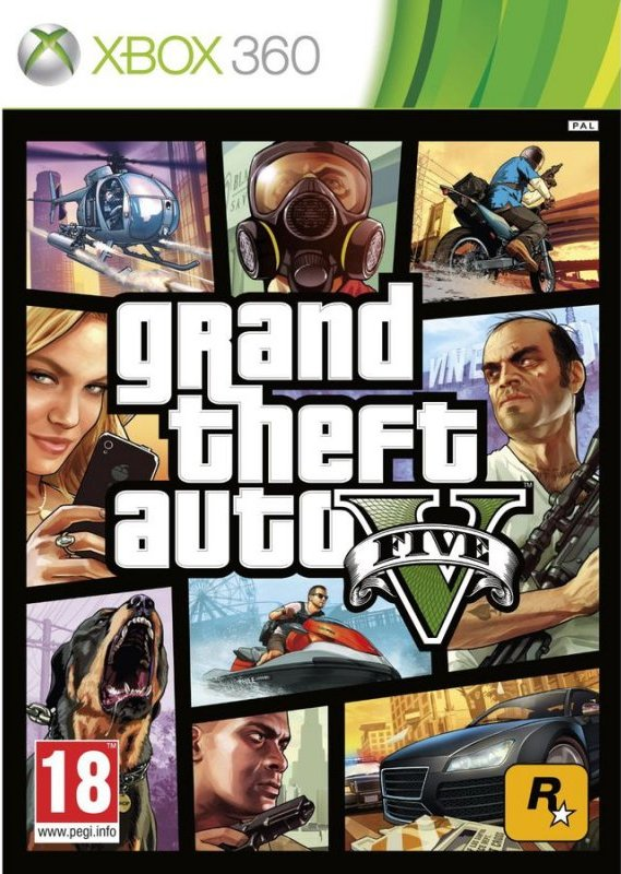 Image of   Gta 5 / Grand Theft Auto V - Xbox 360
